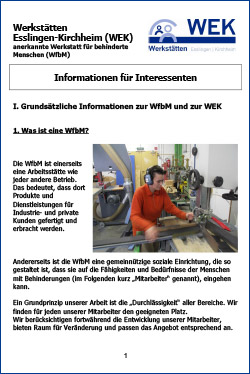 Informationen für Interessenten - deutsch